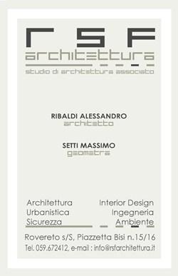 RSF ARCHITETTURA Studio Architettura Associato
