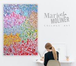 Marie De Moliner Collage Art