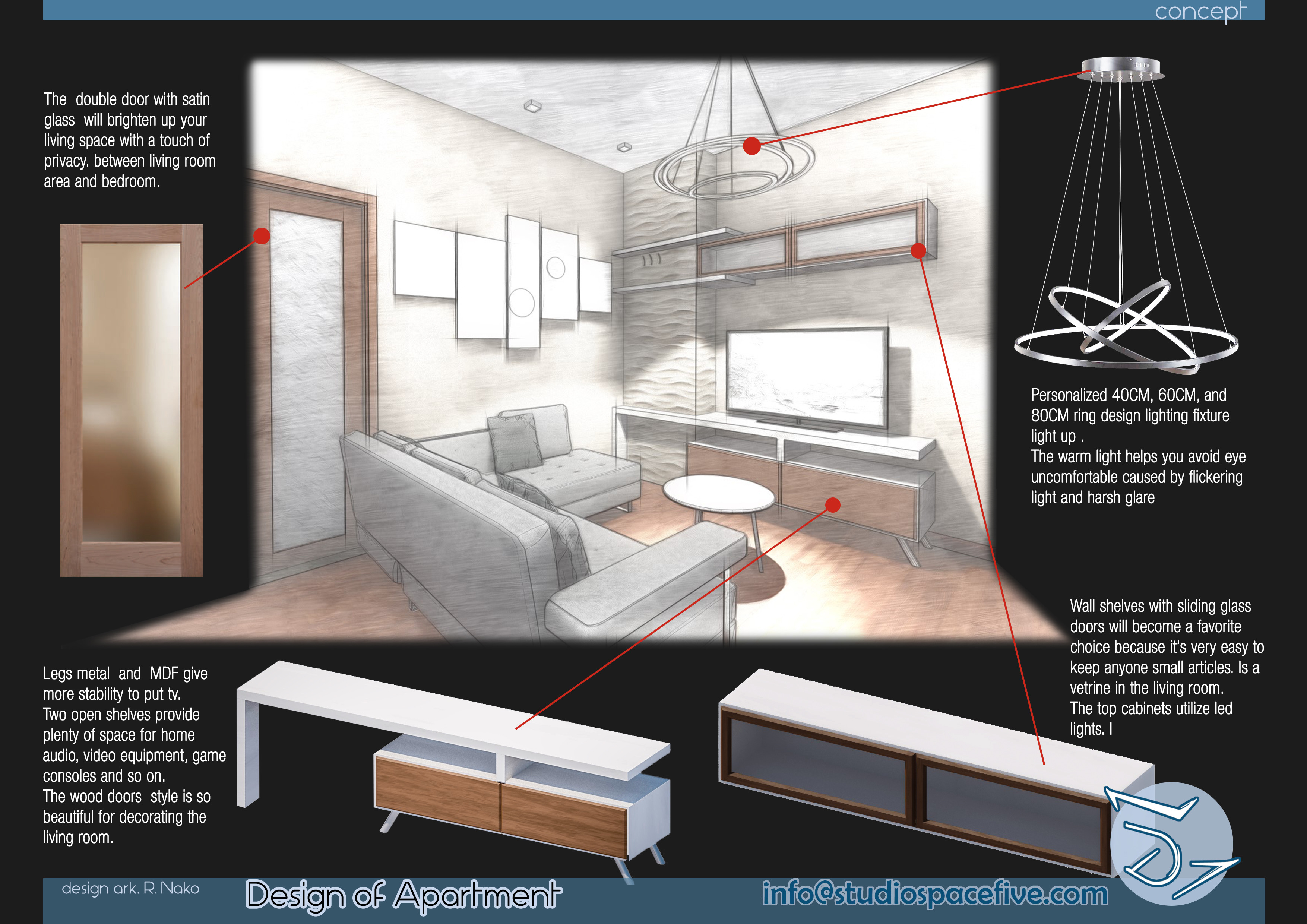 New concept of space to an existing apartment | Studio Space
