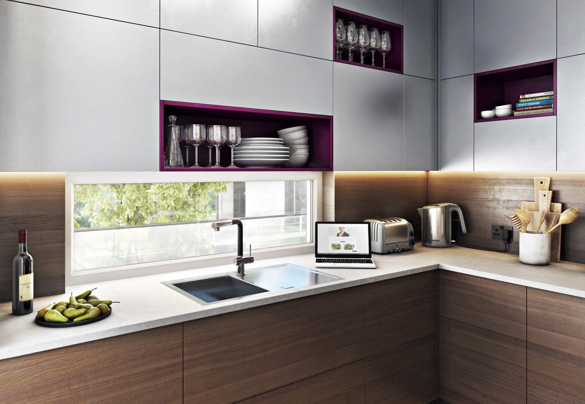 Kitchen Interior 3D Rendering for Ultimate Sophistication