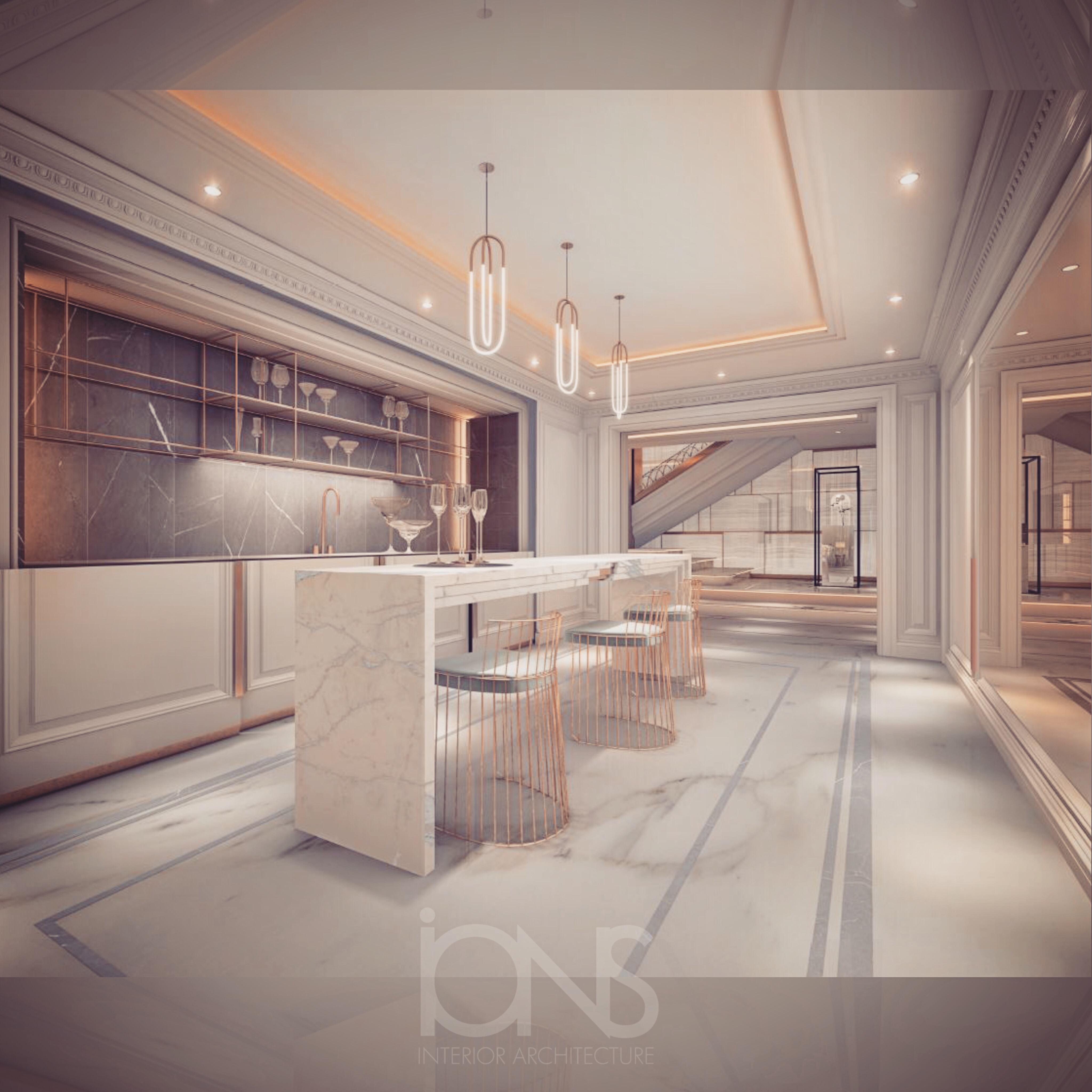 Ions Interior Design Dubai minimalist style kitchen interior | ions design