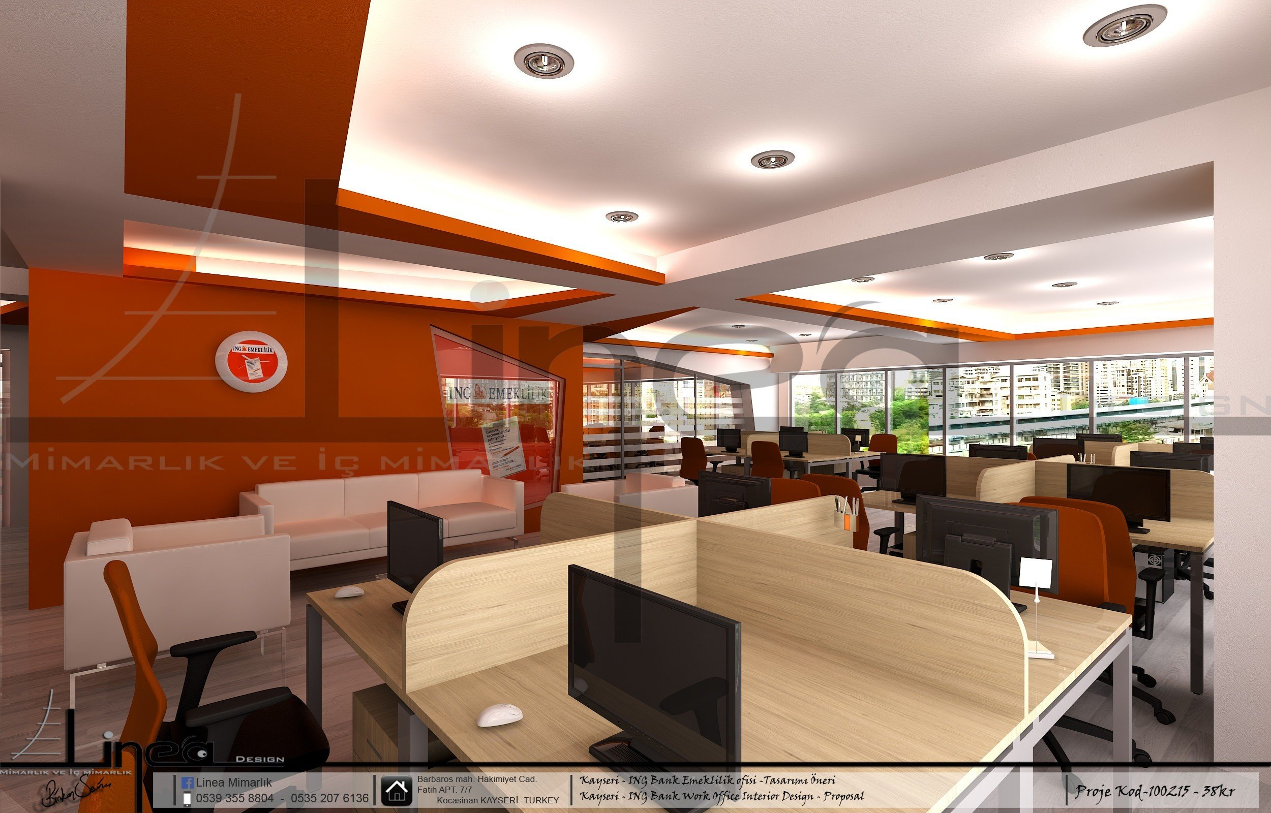 ing bank work office interior design proposal picture gallery rh archilovers com