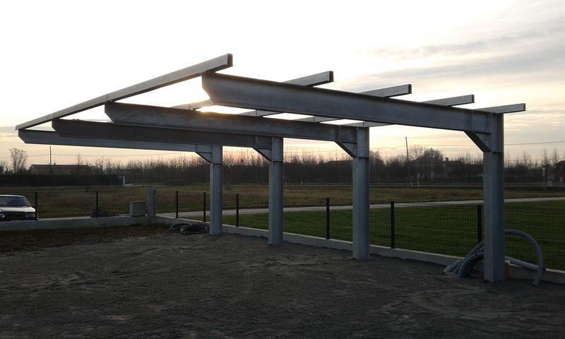 Progetto Strutturale Di Tettoia In Acciaio Con Sbalzo Di 5 M