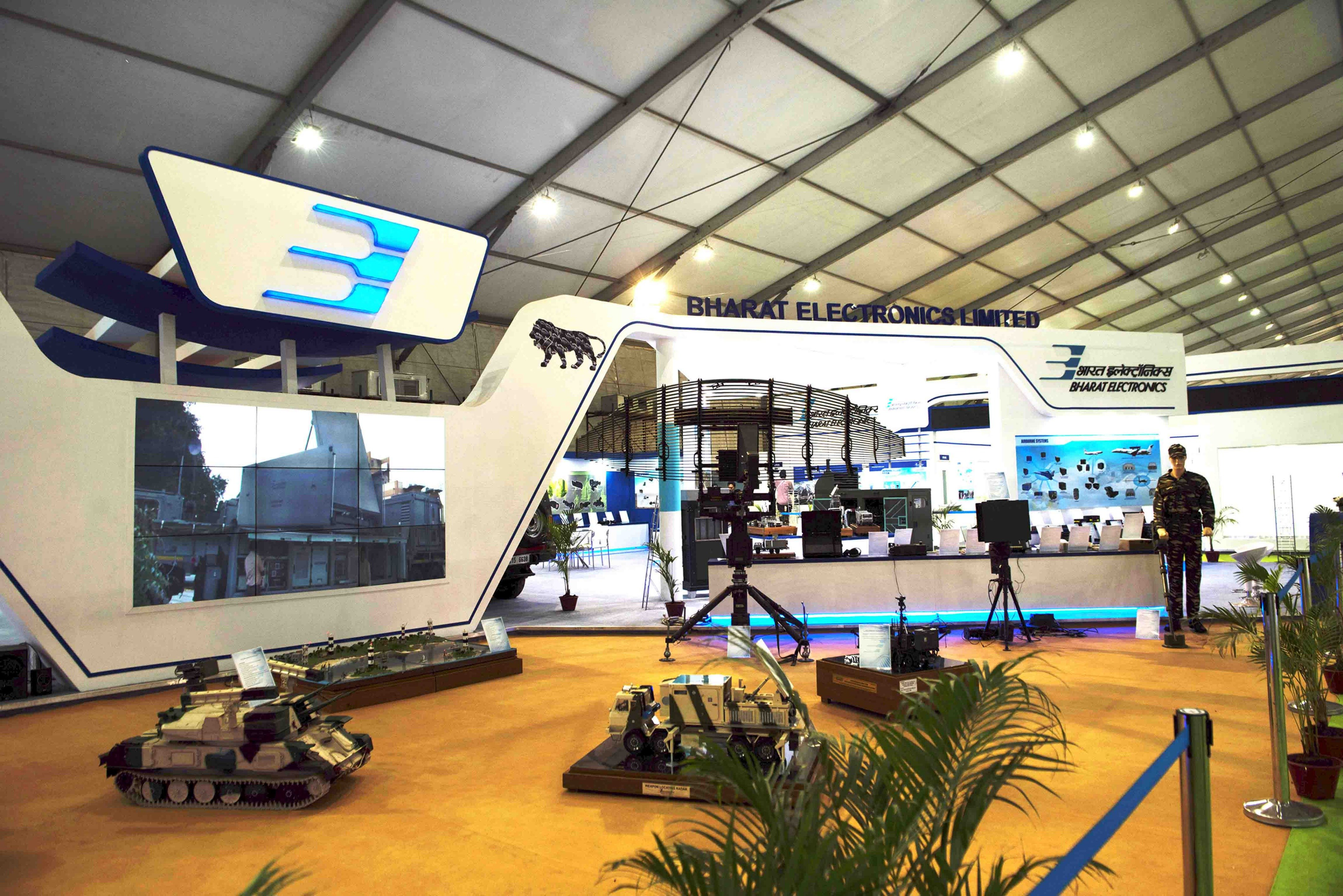 Exhibition Stand Definition : Bharat electronics limited def expo exhibition stand build by xs