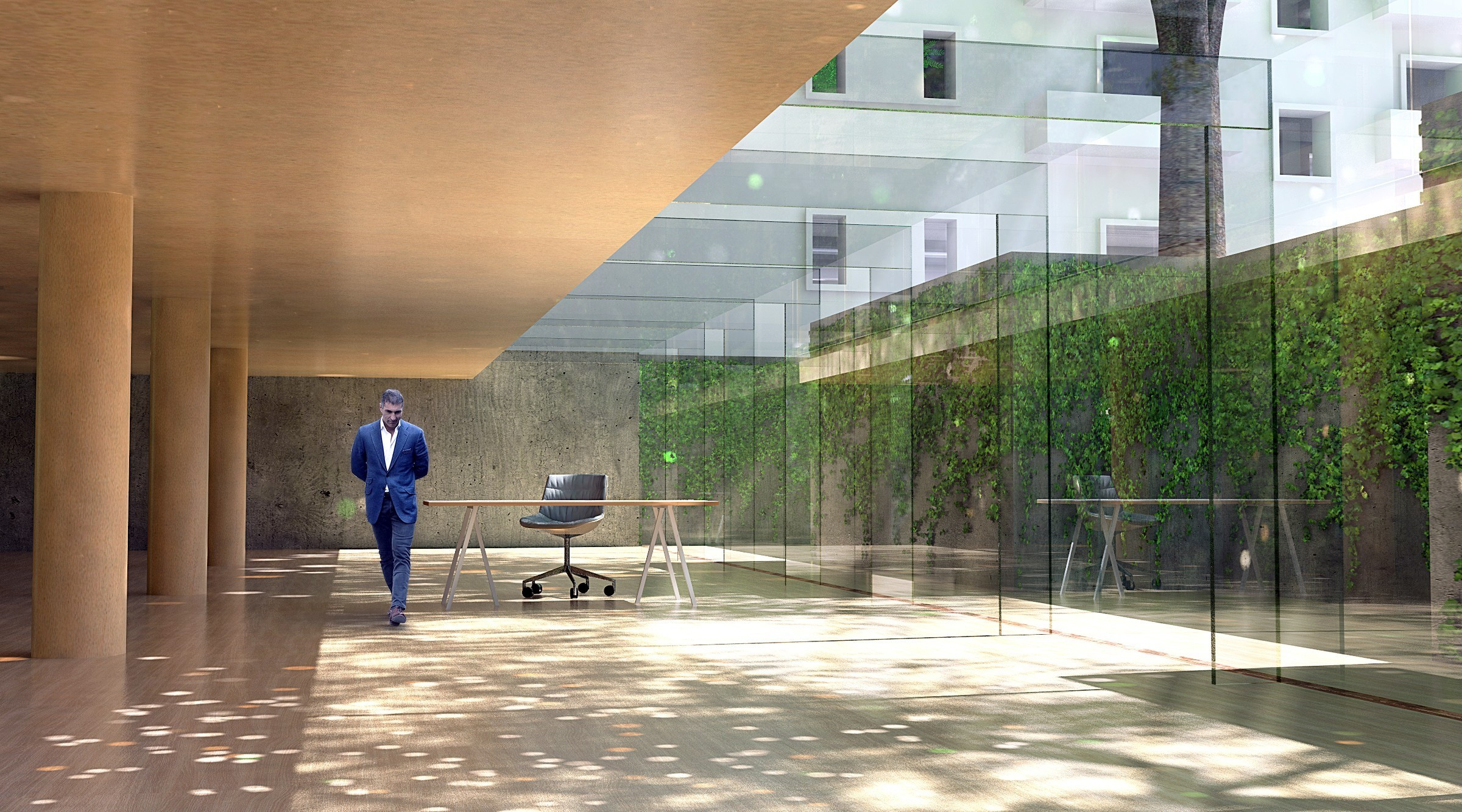 Vecchio Materiale Da Copertura ipes public office building / urban wood | dgt - dorell
