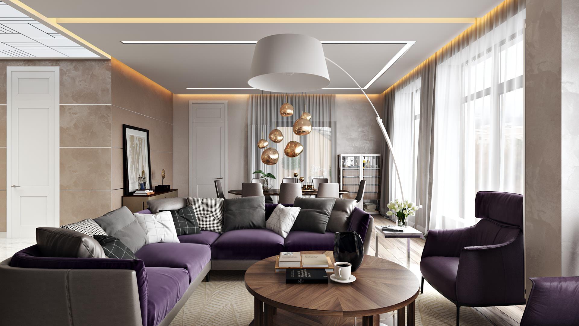 Apartment Interior Rendering For A Comfortable Design Archicgi Com