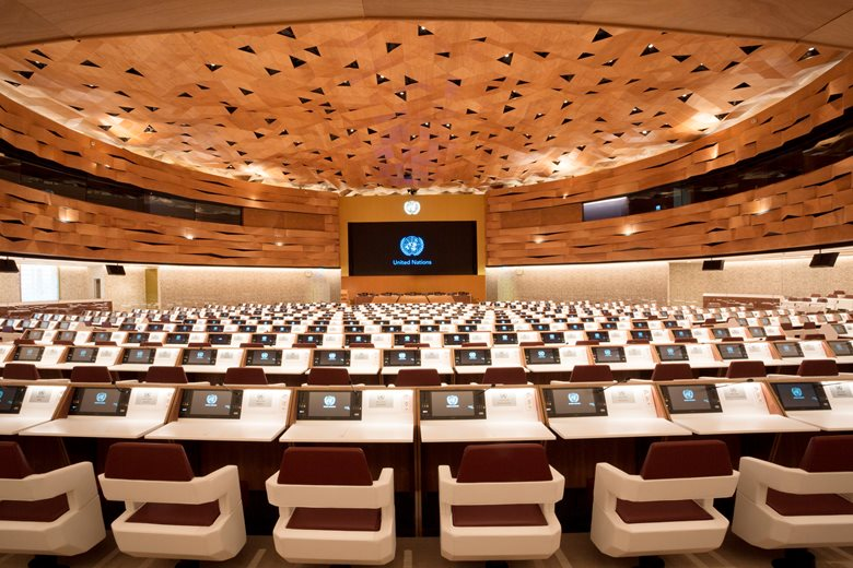 The New Conference ROOM XIX at United Nations of Geneva