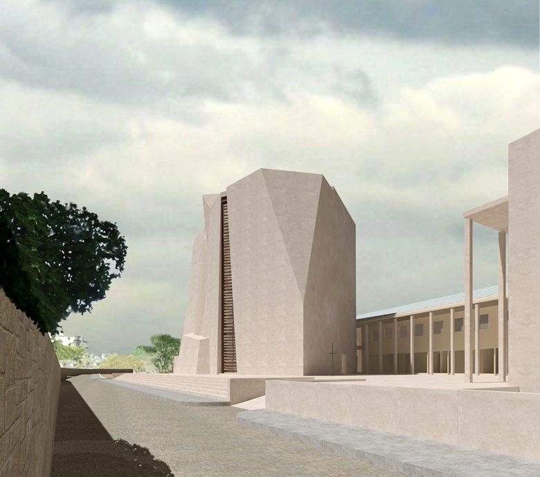 Complesso parrocchiale Santa Maria del Carmine sito in Santa Maria la Carità (NA) - Concorso di idee - Progetto partecipante