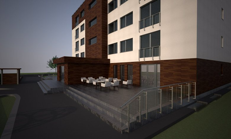 Apartment house with polyfunction