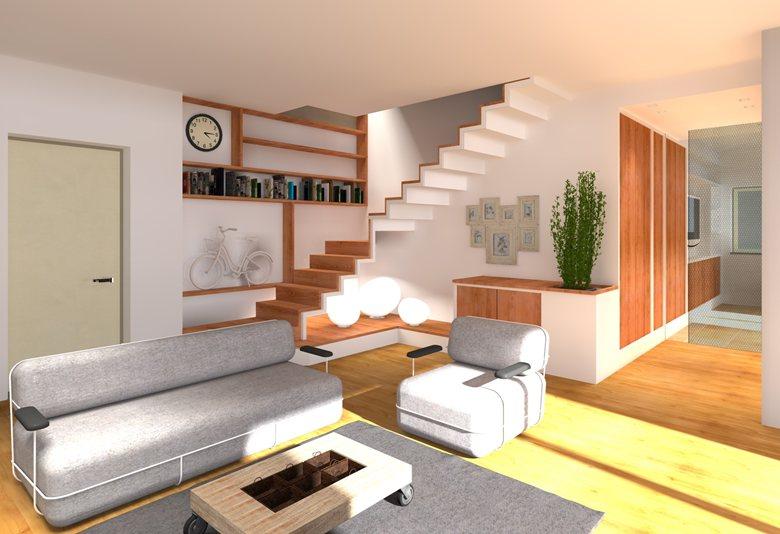 Progettazione interna per un alloggio a Mondovì in collaborazione con studioarchitetturagolinelli