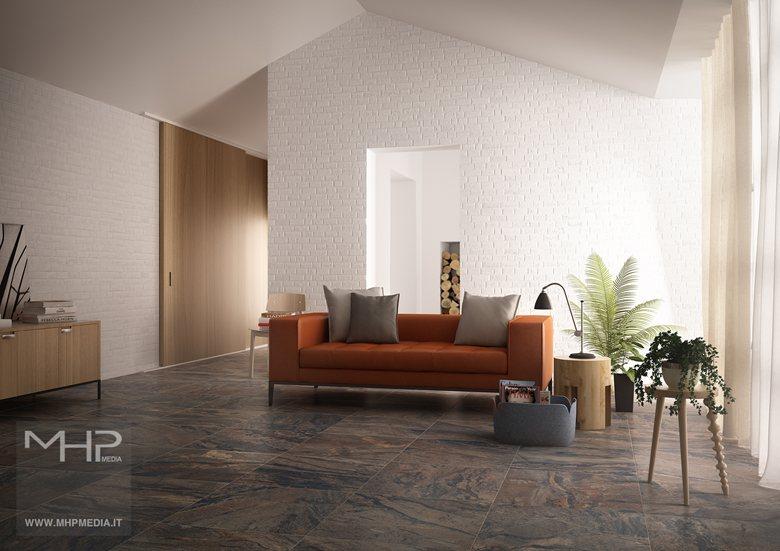 3D rendering   Interior Design Soggiorno