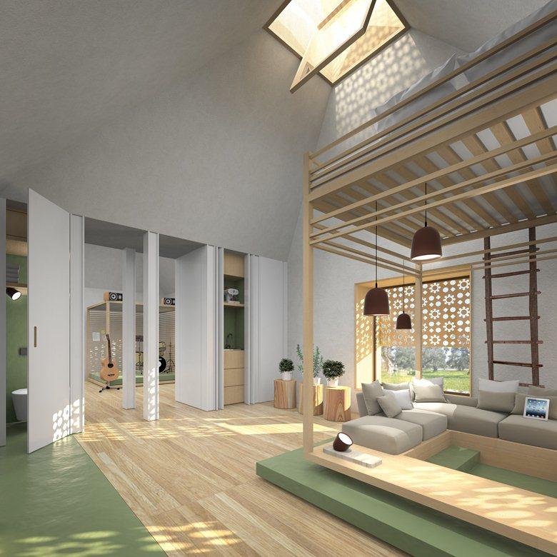 "Straw bale Studios for a Concert Area  -  ""casa in paglia"" A new kind of Trulli"