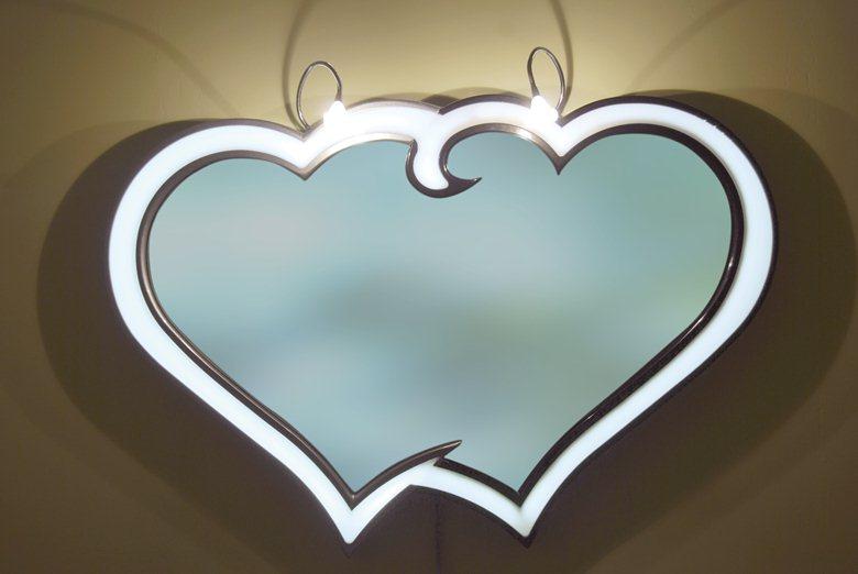 specchio doppio cuore