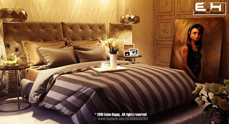 modern bed room