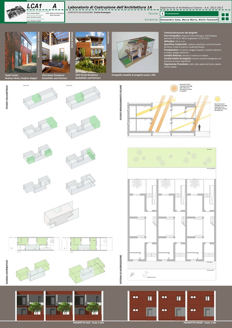 Project for a Terraced House in Cesena