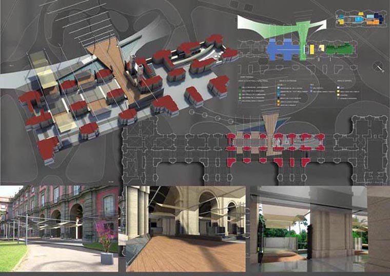 Concorso internazionale di progettazione. Tre punti di ristoro per tre musei napoletani.