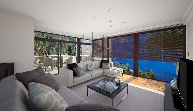 open concept kitchen living room design / Diseño de salón comedor ...