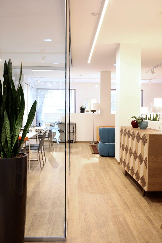 Interior e lighting design showroom Manca Arredamenti