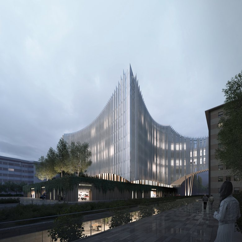 IRCCS San Raffaele Hospital - the new surgical center and ER for the hospital in Milan