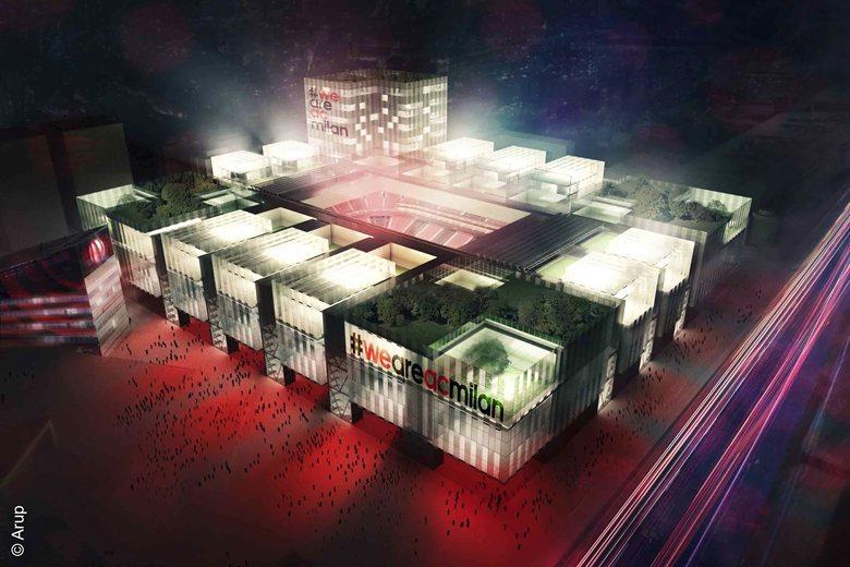 The new A.C. Milan stadium