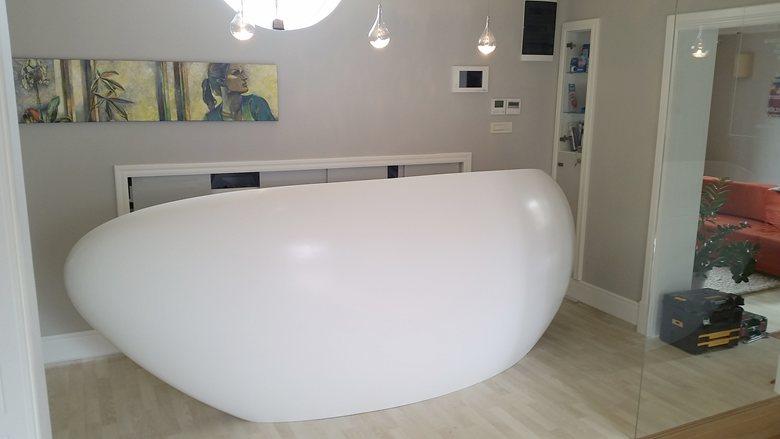 Reception Desk Corian® 3D