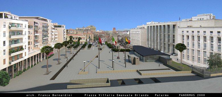 piazza Vittorio Emanuele Orlando a Palermo