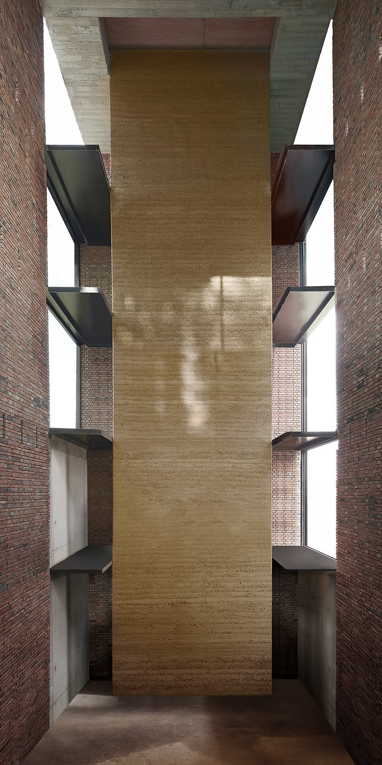 401_Highest contemporary rammed earth wall in Europe
