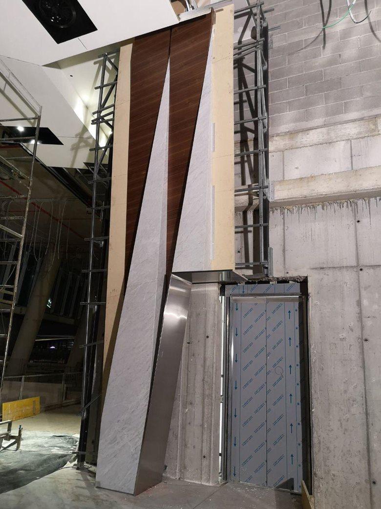 Showroom It Rignano Flaminio gammastone: facade cladding and indoor wall tiles