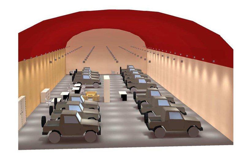 Progetto di illuminazione showroom concessionaria auto