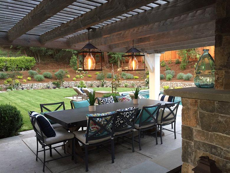 Custom Pendant Lantern for Northern California Outdoor Living Space