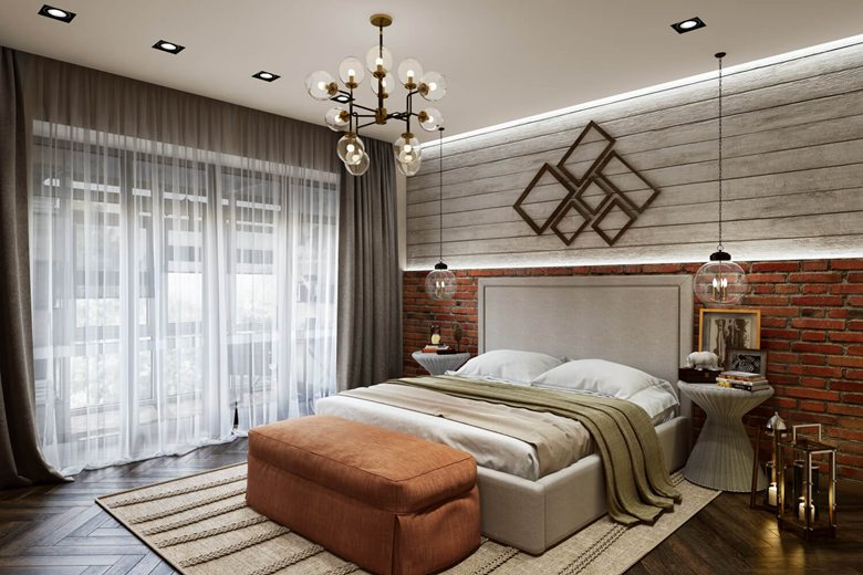 40d Bedroom Rendering Contemporary design ArchiCGI Impressive 3D Design Bedroom