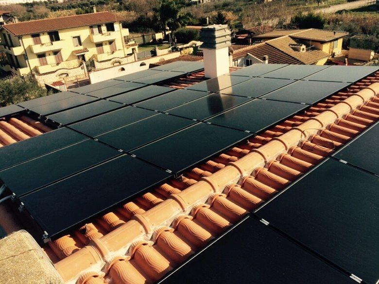 Impianto fotovoltaico con film sottile