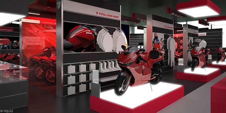 ducati showroom concept