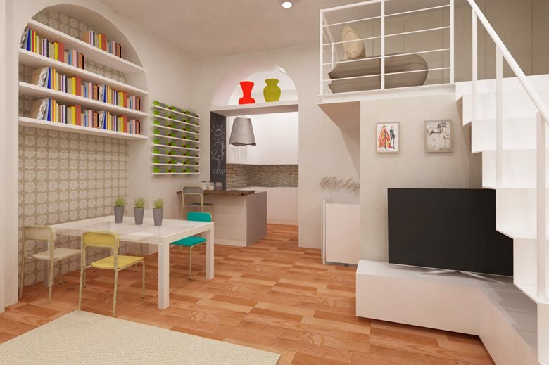 restyling living con soppalco