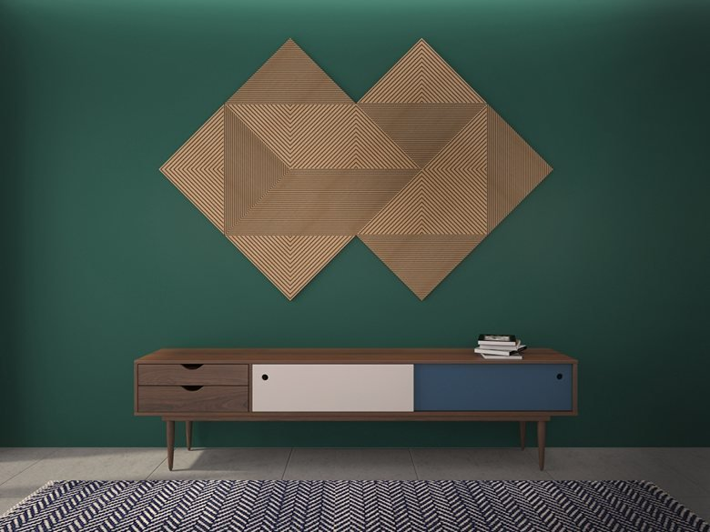 3D wall in hall