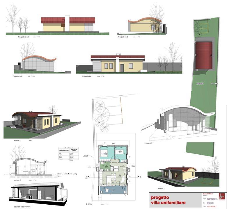 Progetto villa unifamiliare