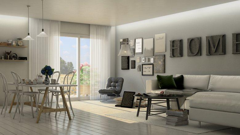 Interior kitchen – living room