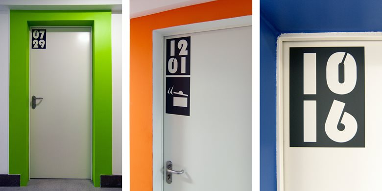 Polonez Academic Center – Room identification signs