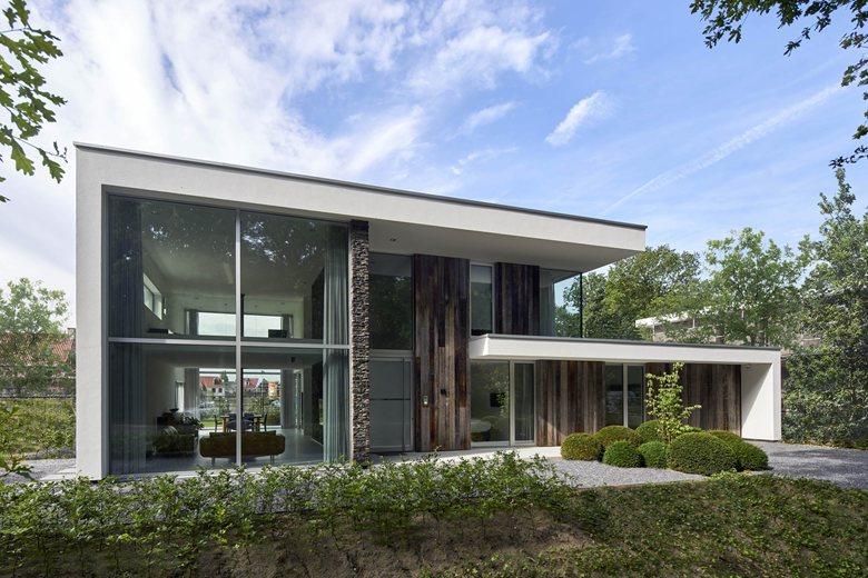 N House, a harmonious presence at the forest's edge