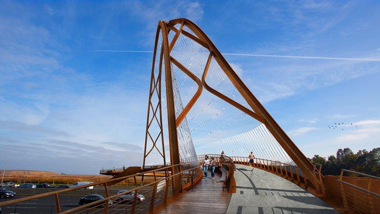 Palo Alto footbridge