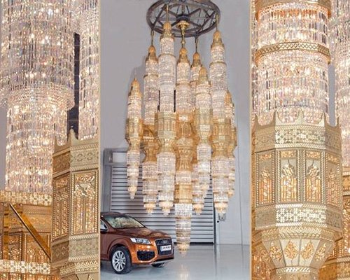 Chandeliers - World's Largest Cast Crystal Chandelier