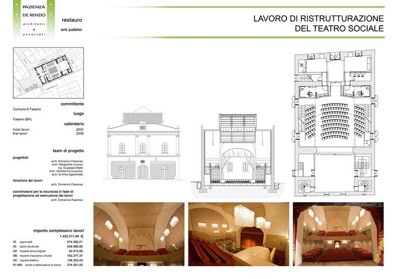 Restauro e riuso del teatro Sociale di Fasano (BR)