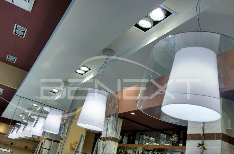 Rinnovo illuminazione presso bar be next srl soluzioni per il