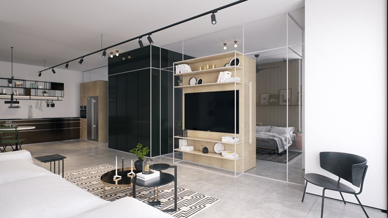 T38/1 - apartment design for a single man