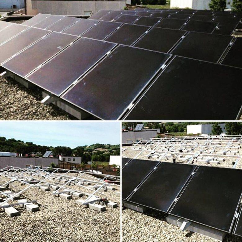 IMPIANTO AZIENDALE DA 8 kWp SU STRUTTURE TRIANGOLARI