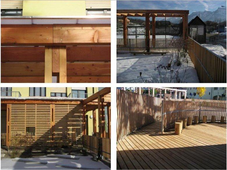 Progetto del cortile scolastico di Tenna