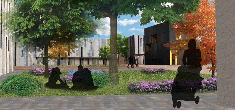 Progetto quartiere residenziale