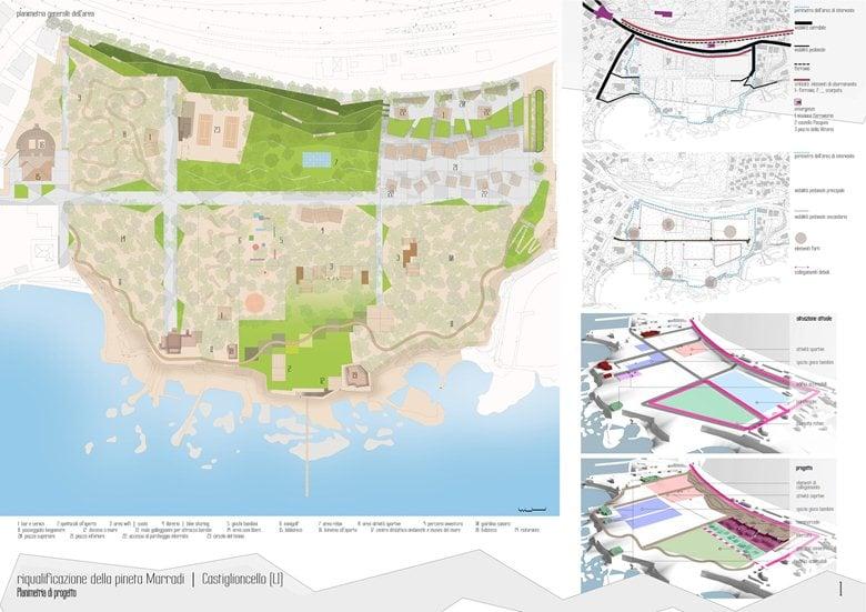 2° Classificato - Concorso di idee per la riqualificazione e valorizzazione della Pineta Marradi a Castiglioncello (LI)