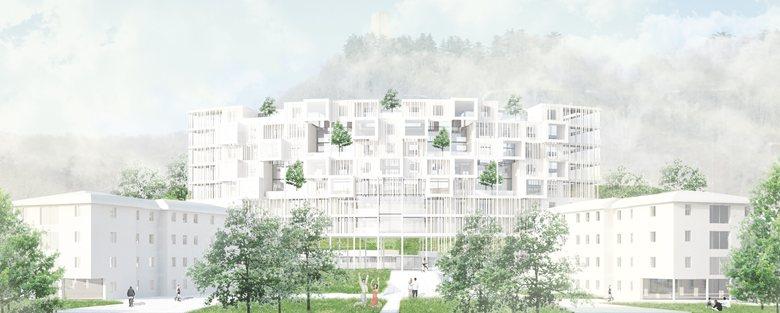 Nuovi spazi tra città, parco e infrastruttura / progetto di ri-uso creativo per l 'ex ospedale sant'anna / como