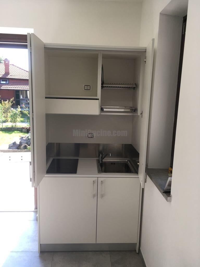 Mini cucine: mini cucina a scomparsa salvaspazio da cm. 109 ...